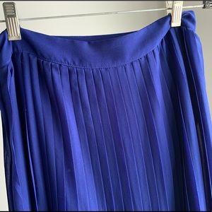 Accordion pleat cobalt blue Sabine maxi skirt